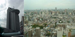 シビックセンター+展望台から上野方面
